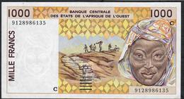 W.A.S. BURKINA FASO P311Ca 1000 FRANCS (19)91  UNC. - États D'Afrique De L'Ouest