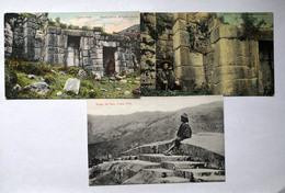 Lot Of 3 Postcard From Peru Perou Cuzco - Peru