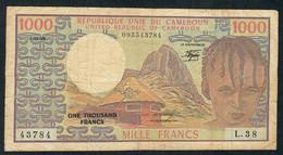 CAMEROUN P16d 1000 FRANCS 1983  #L.38    VF 1 P.h. - Cameroon