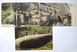 Lot Of 3 Postcard From Peru Perou Cuzco Ollantaitambo - Peru