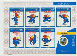 France. 1998; Feuillet Timbre Et Vignettes Autocollantes Footix - Coppa Del Mondo
