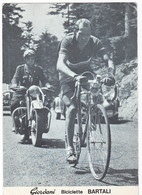 GINO BARTALI - CICLISMO - Cartolina Pubblicitaria GIORDANI - MOTO - Non Viaggiata - Ciclismo