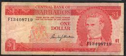 BARBADOS P29 1 DOLLAR 1973 F-aVF - Barbados