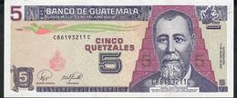 GUATEMALA P106c 5 QUETZALES 2007  XF NO P.h. - Guatemala