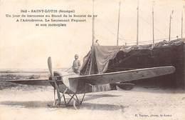 SENEGAL. N° 53762. SAINT-LOUIS. Un Jour De Kermesse Au Stand De La Société Du Tir à L'aérodrome. Lieutenant. Monoplan - Sénégal