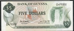 GUYANA P22g 5 DOLLARS 1989 #A/32 UNC. - Guyana