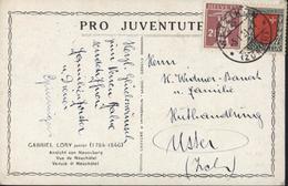Suisse Pro Juventute Gabriel Lory Junior 1784 1846 Vue Neuchâtel YT 156 157 Type K CAD Wetzikon Zurich 5 1 21 - Briefe U. Dokumente