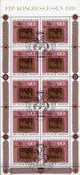 Posthaus-Schild Saarland 1980 BUND 1065 Kleinbogen O 10€ Tag Der Briefmarke Hoja Bloque Bloc Ss Sheetlet Bf Germany - Poste