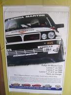 Grande Affiche De Concessionnaire Lancia Delta Integrale Martini Champion Du Monde Des Rallyes 1988 Saby Auriol Biason - Posters