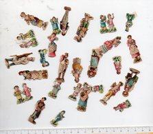 Lot D'environn 30 Petits Découpis: Petits Personnages Ou Couples  (PPP17895) - Children