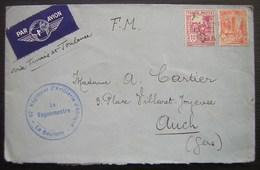 Tunisie, La Goulette 62eme Régiment D'artillerie D'Afrique Lettre En Franchise Pour Auch (gers) - Tunisia (1888-1955)