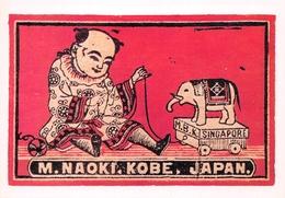 Etiquette Boîte D'allumettes Japonaise - ELEPHANT En Jouet Dessiné - Elefantes