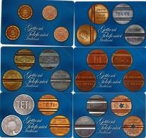 NUOVE- (Mint)-2476/81- TELECOM ITALIA- SERIE GETTONI-6 SCHEDE - Italia