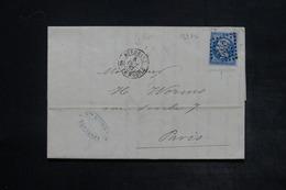 FRANCE - Lettre De Bordeaux Pour Paris En 1867 , Obli. Boite Mobile , Affranchissement Napoléon Avec Variétés - L 26393 - Storia Postale