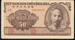 VIETNAM P61 50 DONG 1951 #AB05435554  XF - Vietnam