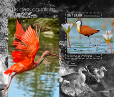 S. TOME & PRINCIPE 2019 - Water Birds, Geese S/S. Official Issue - Oies