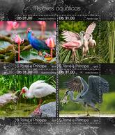 S. TOME & PRINCIPE 2019 - Water Birds, Fish. Official Issue - Oies