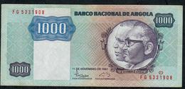ANGOLA P121b 1000 KWANZAS 1987 # FG     VF+ - Angola