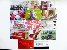 13 Different Plastic Magnetic Cards Cartes IKEA Gift Present Card - Unclassified