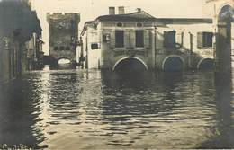 Dép 33 - Cadillac - La Porte De La Mer - Hôtel De La Paix - Carte Photo - Inondations - état - Cadillac