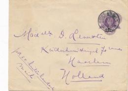 Nederlands Indië - 1914 - 12,5 Cent Envelop Van Grootrond GR TOELANGAN Naar Haarlem / Nederland - Nederlands-Indië