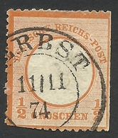 Germany, 1/2 Gr. 1872, Sc # 16, Mi # 18, Used, Zerbst - Oblitérés
