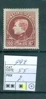 292  X Côte 55.00€ - 1929-1941 Grand Montenez