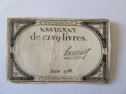 France - Assignat De 5 Livres - Série 3088 - Signature Henriot - Vers 1792 - Assignats