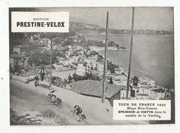 Photographie, 175 X 125 Mm, Cyclisme,TOUR DE FRANCE 1935 , Nice-Cannes,Speicher Et Vietto Dansla Turbie, Frais Fr 1.55 E - Radsport