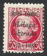 Spain, Malaga 30 C. 1937, Sc # 10L14, Mi # 14, MH - Nationalist Issues