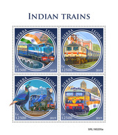 SIERRA LEONE 2019 - Indian Trains, Peacock. Official Issue. - Paons