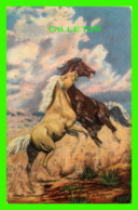 HORSES, CHEVAUX - OIL PAINTING BY L. H. DUDE LARSEN IN 1946 - - Chevaux