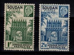 Soudan - YV 129 & 130 N** Gomme Tropicale Petain - Soudan (1894-1902)