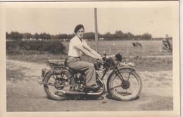 PHOTO CARTE - Moto Ancienne - Moto