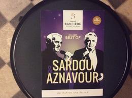 PROGRAMME CASINO  Invitation  CONCERT BEST OF SARDOU AZNAVOUR - Programs