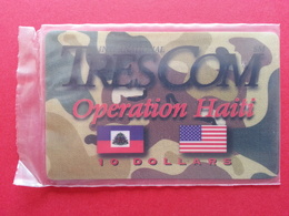 HAITI - HAI PA1 TRESCOM Blister OPERATION HAITI 10 USD Dollars MINT NSB Army Militaria (CB1217 - Haïti