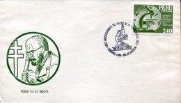 44117 Peru, Fdc 1983  Tbc.  Robert Koch, Tubercolosis, Postmark Lima Discovery Bacillus Of TBC - Celebrità