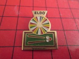 1415c Pin's Pins / Beau Et Rare : THEME SPORTS / BILLARD FLECHETTES ELDO ... Radeau ? - Billiards