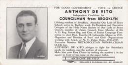 Politics Politician Anthony De Vito Brooklyn New York Councilman Advertisement Blotter - Blotters