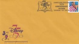 75 Year Disney Anniversary Sc#2913 Flag 32c Issue Disneyland Station Anaheim California Postmark, Illustrated 1998 Cover - Disney