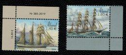 Aland 2019 Sailing Ships 5° Issue - Velieri  5° Emissione 2v Complete Set  ** MNH - Aland