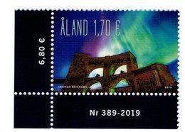 Aland 2019 Aurora Borealis - Aurora Boreale 1v Complete Set  ** MNH - Aland