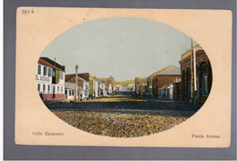 CHILE Punta Arenas Calle Errazuriz  1906/1913  OLD POSTCARD - Chili