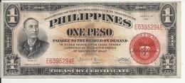 PHILIPPINES 1 PESO 1941 XF++ P 89 C - Philippines