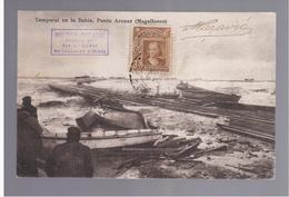 CHILE Punta Arenas Temporal En La Bahia 1910  OLD POSTCARD - Cile
