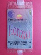 FALKLAND ISLAND - Horizon Internet Service GPT CN : 220CFKA - 1000ex Blister NSB MINT (CB1217 - Diego-Garcia