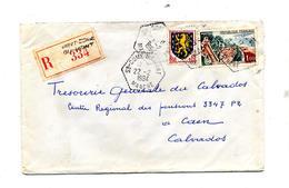 Lettre Recommandee Saint Come Du Mont Sur Touquet - Marcophilie (Lettres)