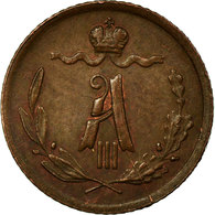 Monnaie, Russie, Alexander III, 1/4 Kopek, 1891, St. Petersburg, TTB, Cuivre - Russia