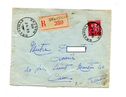 Lettre Recommandee Grandville Sur Paix - Marcophilie (Lettres)