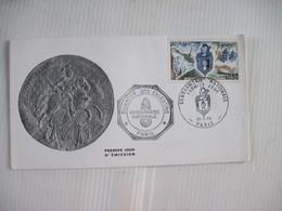 Enveloppe Premier Jour D'Emission Quartier Des Celestins GENDARMERIE NATIONALE PARIS 1970 TBE - Marcophilie (Lettres)
